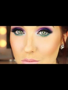 jaclyn hill ROCKED this look! want this urban decay pallete. would be so cute for a rave; Makeup Geek, Makeup Inspo, Makeup Addict, Makeup Inspiration, Makeup Tips, Beauty Makeup, Hair Makeup, Makeup Ideas, Electric Palette Looks