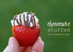 'Cheesecake Stuffed Strawberries'