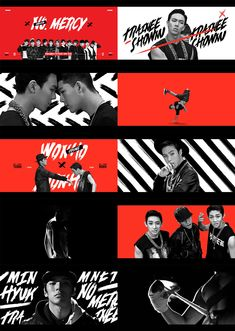 Style frames - motion graphic design Broadcast Design for Mnet 'No.MERCY' on Behance