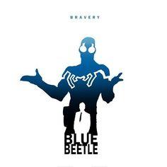 Blue Beetle by Steve Garcia. Dc Heroes, Comic Book Heroes, Comic Books, Marvel Fan Art, Marvel Avengers, Comic Character, Character Design, Detective Comics 1, Superhero Silhouette