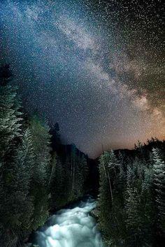 Milky Way at the Cheakamus River B.C | photo by Jon Beard