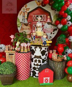 Birthday Party Decorations, Party Themes, Farm Birthday, Farm Theme, Ideas Para Fiestas, Buffet, Banner, Pockets, Holiday Decor