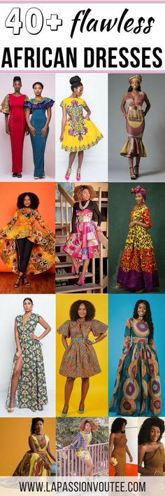 45 Fashionable African Dresses Discover the hottest ankara African dresses you need this season. Everything from peplum, bubble sleeves, and flare to mixed African print. This season's hottest styles & where to get them are in one convenient post. African Dresses For Women, African Print Dresses, African Fashion Dresses, African Attire, African Wear, African Women, African Clothes, African Prints, African Style