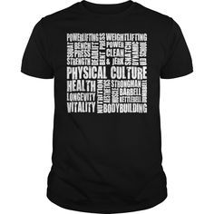 Physical Culture  Motivational Fitness Word Map TShirts201749140447  #fitness #gym #bodybuilding #workout #fitfam #lifting #tshirt #tee