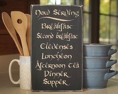 Hang A Meal Schedule For Your Hobbit Kitchen – That's Nerdalicious!