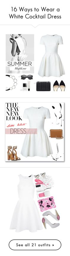"""""""16 Ways to Wear a White Cocktail Dress"""" by polyvore-editorial ❤ liked on Polyvore"""