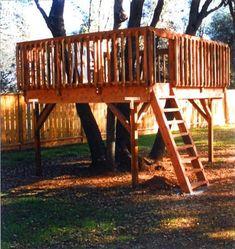 tree deck lookout deck ideas for backyard designs
