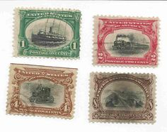 US Stamps Scott 's 294 295 296 298 PanAm Exposition Issue 1901 Used | eBay