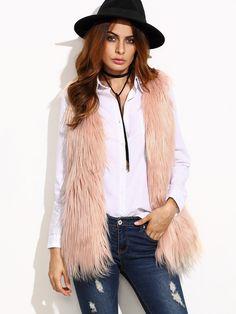 Beige Faux Fur Vest — 0.00 € ------------------------------------color: Beige size: L,M,S,XS