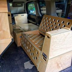 bed/bench storage boxes for element camper Bed Bench Storage, Storage Boxes, Van Storage, Storage Ideas, Motorhome, Honda Element Camping, Diy Camping, Truck Camping, Camper Trailers