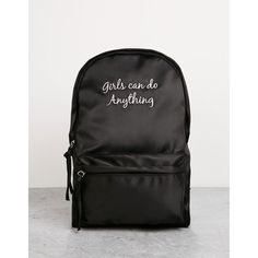 0205cff7ac Nylon text backpack - Backpacks - Bershka Italy (1.395 RUB) ❤ liked on  Polyvore featuring bags, backpacks, bershka, day pack backpack, nylon  backpacks, ...