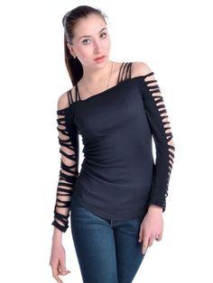 Anna-Kaci S/M Fit Black Slash Cut Outs Bare Shoulder Punk Rock Inspired Top Anna-Kaci,http://www.amazon.com/dp/B00AWYOBZY/ref=cm_sw_r_pi_dp_CVS.sb184QJZ6MHM