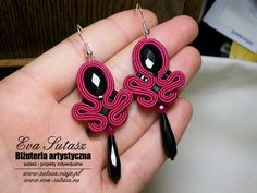 Rope Jewelry, Jewelry For Her, Jewelry Crafts, Jewelery, Jewelry Making, Soutache Pattern, Soutache Tutorial, Beaded Earrings, Beaded Jewelry
