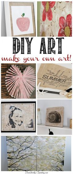 Some great DIY Art you can make yourself!