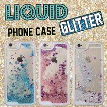Fashion Glitter Sparkle Liquid Quicksand Star Heart Pink Hard Phone Case Cover Coque Fundas For iPhone 6 6S 6Plus 5 5S 7 7Plus(China (Mainland))