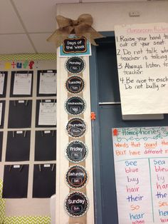 A peek into my classroom--using burlap as a decoration