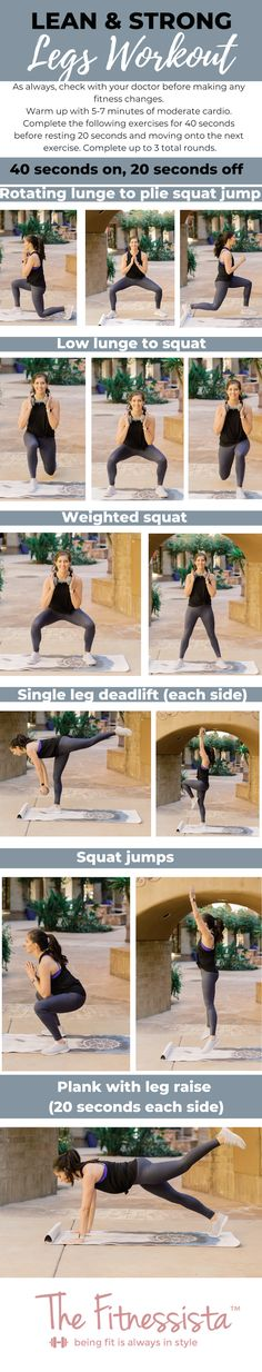 Get ready for summer with this lean & strong leg workout! Combining strength and cardio for a great leg and booty workout you can do anywhere. Leg Workout At Home, At Home Workouts, Circuit Workouts, Body Workouts, Thigh Workouts, Thigh Exercises, Strength Training For Beginners, Workout For Beginners, Strong Legs