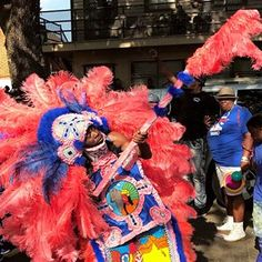The beadwork and creativity that goes into a Mardi Gras Indian suit is incredible. To see so many on one day is a gift. If you ever get the chance to experience Super Sunday in New Orleans, don't pass it up. . Check out my story for more photos from the day. #supersunday #mardigrasindians