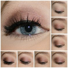 Urban Decay Naked3 Tutorial 1. Prime lids and curl lashes. 2. Apply Liar all over the lid. 3. Apply Mugshot to the crease and blend well. 4. Add Buzz to the middle of the lid. 5. Blend Darkhorse into the outer v and crease. 6. Highlight the brow bone and inner corner of the eye with Strange and line the eyes. 7. Apply mascara.