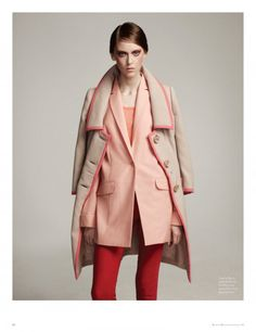 The Prada coat we are dying over! Tonal Dressing, Pink, Trench, Blazer