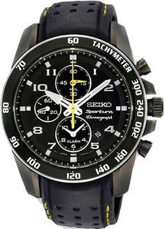 d190d6efad0 SNAE67 - Authorized Seiko watch dealer - Mens Seiko Sportura Alarm Chrono