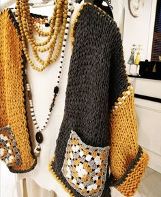 Pull Crochet, Gilet Crochet, Crochet Coat, Crochet Cardigan Pattern, Crochet Jacket, Crochet Blouse, Knitted Poncho, Crochet Shawl, Crochet Clothes