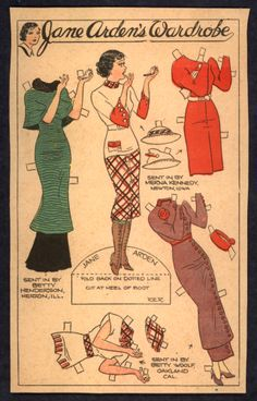 1930's Jane Arden paper doll / thestrong.org