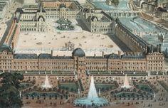 Symbolic Meaning Of The Louvre, Paris France Old Paris, Paris Map, Paris France, Neoclassical Architecture, Historical Architecture, Palais Des Tuileries, Louvre Paris, French History, Fantasy Castle