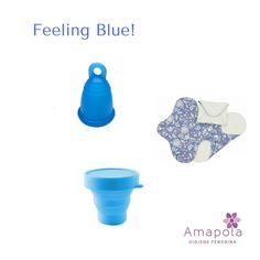 Hoy estamos azules! Qué tal este kit completo para cambiarte a la copa menstrual? Está en $50 y puedes pasar por él a nuestra oficina o solicitar nuestro servicio de mensajería.  Contiene una copa menstrual (Precio regular $35) un esterilizador de microondas (Precio regular $12) y una toalla sanitaria reutilizable (Precio regular $8). #feelingblue #copamenstrualpanama #cambiatealacopa #muylila @amapolapanama