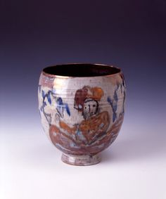 Beatrice Wood, Vase, 1955, Earthenware, 6½in. x 30½in. x 6½in., Gift of Mr. and Mrs. Fred Marer.