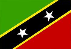 Island, Saint Kitts And Nevis, Flag, Symbol Island Holidays, St Kitts, Chevrolet Logo, Saints, Flag, Symbols, Science, Flags, Glyphs