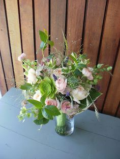 EP's  greens and pinks bouquet