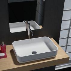 Aufsatzwaschbecken PB2133 aus Mineralguss - 54 x 36 x 13 cm - Farbe wählbar – Bild 1