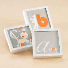 Land of Nod framed alphabet letters