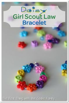 Girl Scout Law Bracelets/Yellow Petal Activity