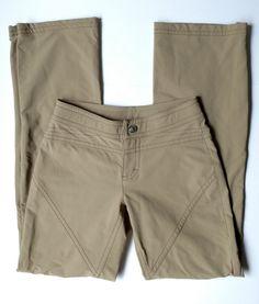 a49f80486bf2 ATHLETA Women s Khaki Tan Cargo Boot Cut Athletic Hiking Pants Nylon Size 0   Athleta
