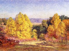 The Poplars - T. C. Steele. Artist: T. C. Steele. Completion Date: 1914