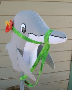 Dolphin Stick 'Horse' Ride On Toy MADE TO ORDER by RusticHorseShoe, $54.30
