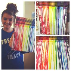 Did the melted Crayon art.❤