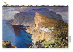 Pd-art: Reproduction Carry-all Pouch featuring the painting Villa Jovis - Isle of Capri by Robert Prusso jr Isle Of Capri, The Masterpiece, Basic Colors, How To Be Outgoing, Color Show, Carry On, Fine Art America, Oil On Canvas, Colorful Backgrounds