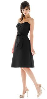 Alfred Sung Style D437 Bridesmaid Dress in Black