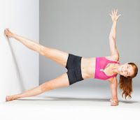 Add an extra challenge to your side plank - a wall!!