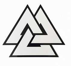 "Viking Odin Symbol Valknut Unicursal 4x4"" Decal Vinyl Sticker Valhalla Empire Tactical http://www.amazon.com/dp/B00UVYQJ1E/ref=cm_sw_r_pi_dp_HgNdvb0BTE3JF"