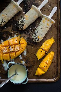 Mango Sticky Rice Popsicles