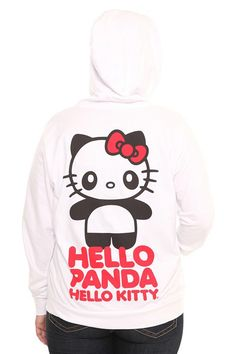 Hello Kitty X Panda Hello Panda, Hello Kitty, Sorority, Torrid, Cool Outfits, Letter, Girly, Plus Size, Hoodies