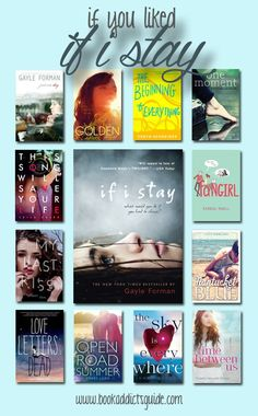 YA books to read if you liked If I Stay by Gayle Forman   Young Adult books to read   YA books romance