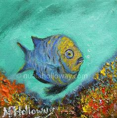 """Ag Faire Ort"" by Nuala Holloway - Oil and Sand on Canvas. Part of Nuala's ""Coral Collection"" bringing attention to the beauty and importance of this Oceanic ecosystem. #Coral #Fish #IrishArt"