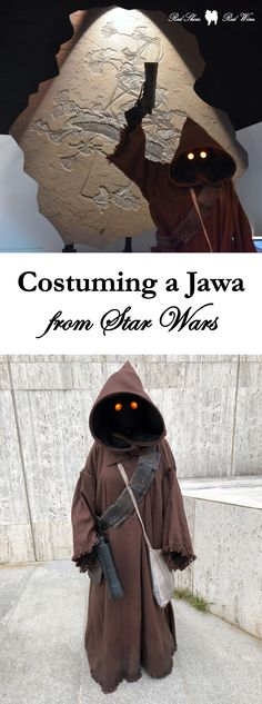 When we started attending DragonCon several years ago, our niece asked for a Jawa costume and I happily obliged. Jawa Costume, Star Wars, Cosplay, Geek Chic, Learn To Sew, Red Shoes, Travel Style, Doctor Who, Costumes
