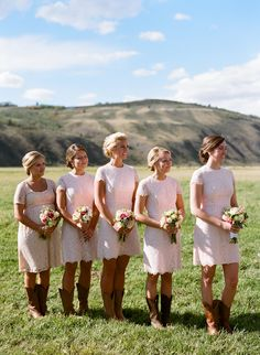 Bridesmaids in Cowboy Boots | Photography: Ashley Merritt Photography