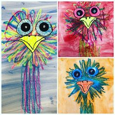 Summer Art Projects, Arts And Crafts Projects, Australian Animals, Australian Art, Art Activities For Kids, Art For Kids, Australia Crafts, Kindergarten Art Lessons, Art Classroom
